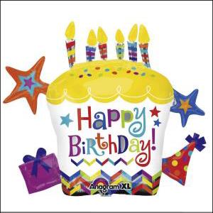 Happy Birthday Cupcake Star S/S