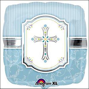 Communion Blessings Blue 45cm Foil Ballo