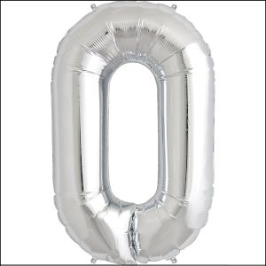 Foil Balloon 35cm Silver O