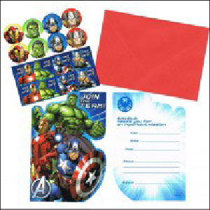 Avengers Assemble Invitations Pk 8