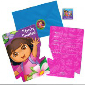 Dora the Explorer Party Invites Pk 8