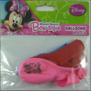 Minnie Mouse Bow-tique Latex Balloons Pk