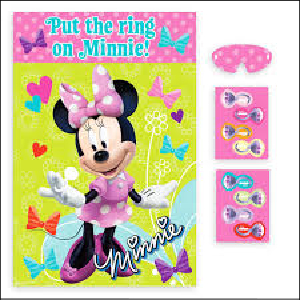 Minnie Mouse Pin The Ring Party Game