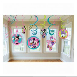 Minnie Mouse Hanging Swirl Decorations P