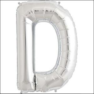 Foil Balloon 35cm Silver D