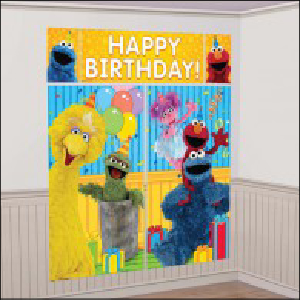 Sesame Street Happy Birthday Scene Sette