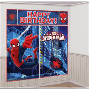 Scene Setter Spiderman Wall Decorating 5