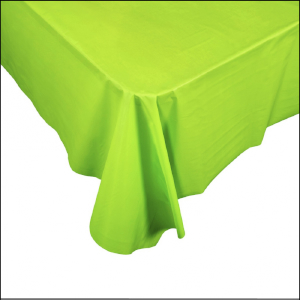 Lime Green Rectangle Plastic Tablecover