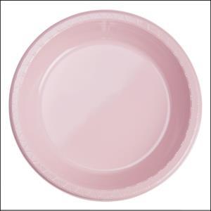 Premium Light Pink Plastic Dinner Plates