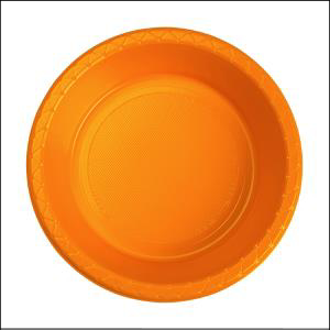 Premium Orange Plastic Bowls Pk 25
