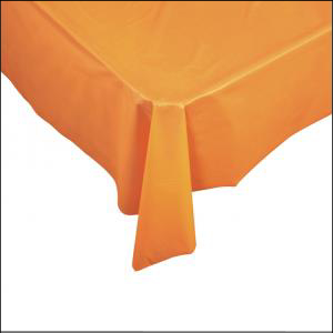 Orange Rectangle Plastic Tablecover 137c