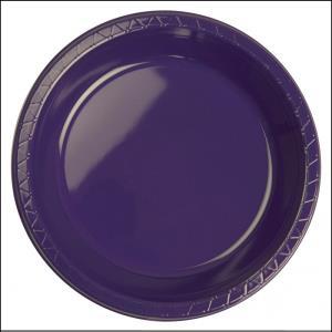 Premium Purple Plastic Dinner Plates Pk