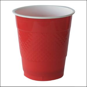 Premium Apple Red Plastic Cups Pk 25
