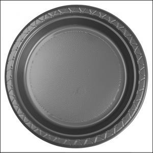 Premium Silver Plastic Dinner Plates Pk