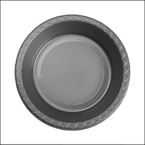 Premium Silver Plastic Bowls Pk 25