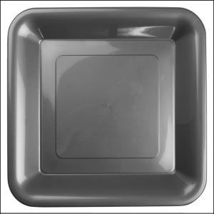 Premium Silver Plastic Square Banquet