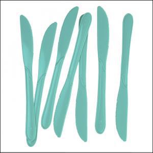 Premium Turquoise Plastic Knives Pk25
