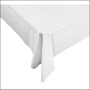 White Rectangle Plastic Tablecover 137cm