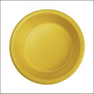 Premium Yellow Plastic Bowls Pk 25