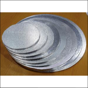 """Cake Board Masonite Round Silver 7"""""""