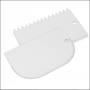 Mondo Icing Comb and Bowl Scraper Set