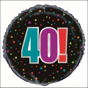 Birthday Cheer 40th Foil Balloon 45cm