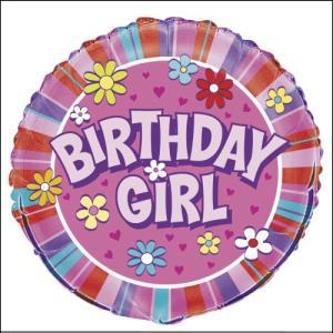 Birthday Girl Foil Balloon 45cm