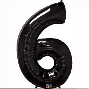 Number 6 Black Supershape 86cm