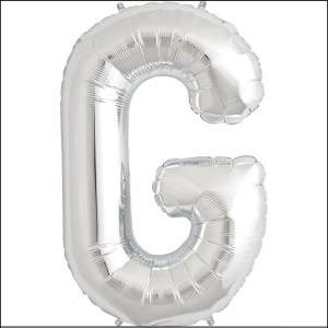 Letter G Silver Supershape 86cm