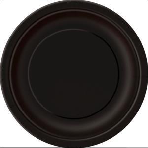 Black Paper Side Plates Pk 8