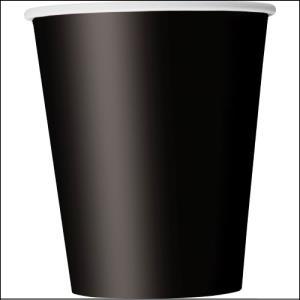 Black Paper Party Cups Pk 8