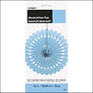 Decorative Fan Light Blue 40.64cm Pk 1