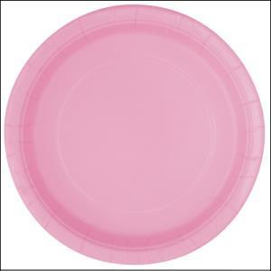 Light Pink Paper Dinner Plates Pk 8