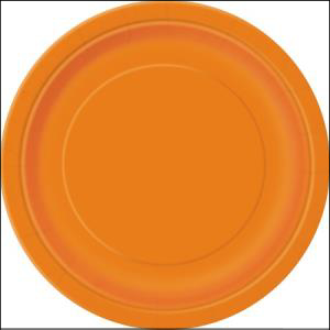 Orange Paper Side Plates Pk 8