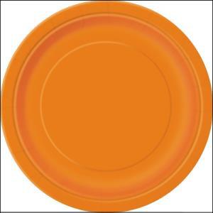 Orange Paper Dinner Plates Pk 8