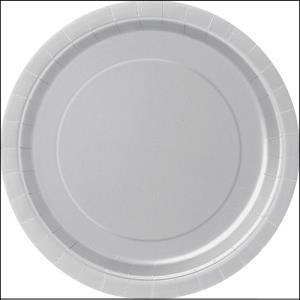Silver Paper Dinner Plates Pk 8