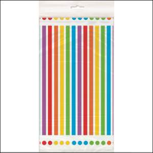 Rainbow Party Rectangle Plastic Tablecov