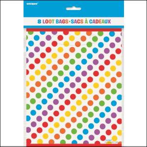 Rainbow Party Lootbags Pk 8