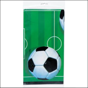 3D Soccer Party Rectangle Tablecover Pk