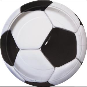 3D Soccer Party Plates Pk 8