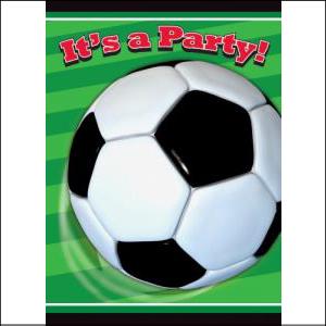 3D Soccer Party Invites Pk 8