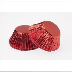 Red Foil Large Patty Pans Pk 25
