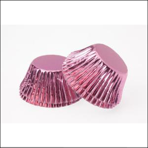 Pink Foil Large Patty Pans Pk 25