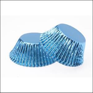 Blue Foil Large Patty Pans Pk 25