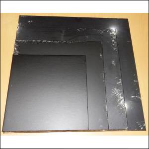 """Cake Board Masonite Square Black 12"""""""