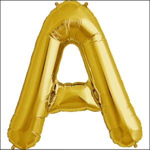 Foil Balloon 35cm Gold A