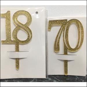 No 60 Acrylic Gold 7.5cm