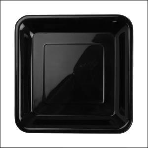 Premium Black Square Snack Plates Pk20