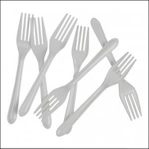 Premium White Plastic Forks Pk20