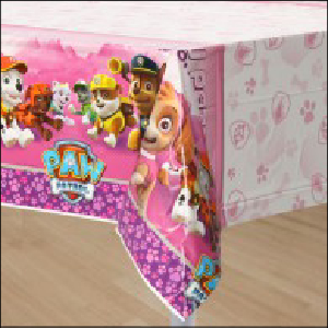 Paw Patrol Girls Party Tablecover Pk 1